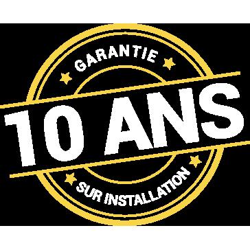 Garantie 10ans sur l'installation