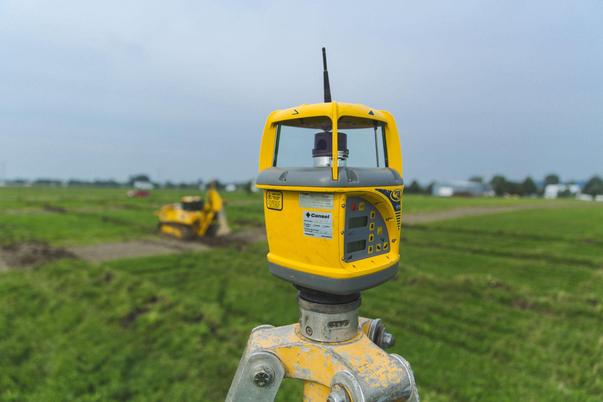 drainage système de guidage automatique